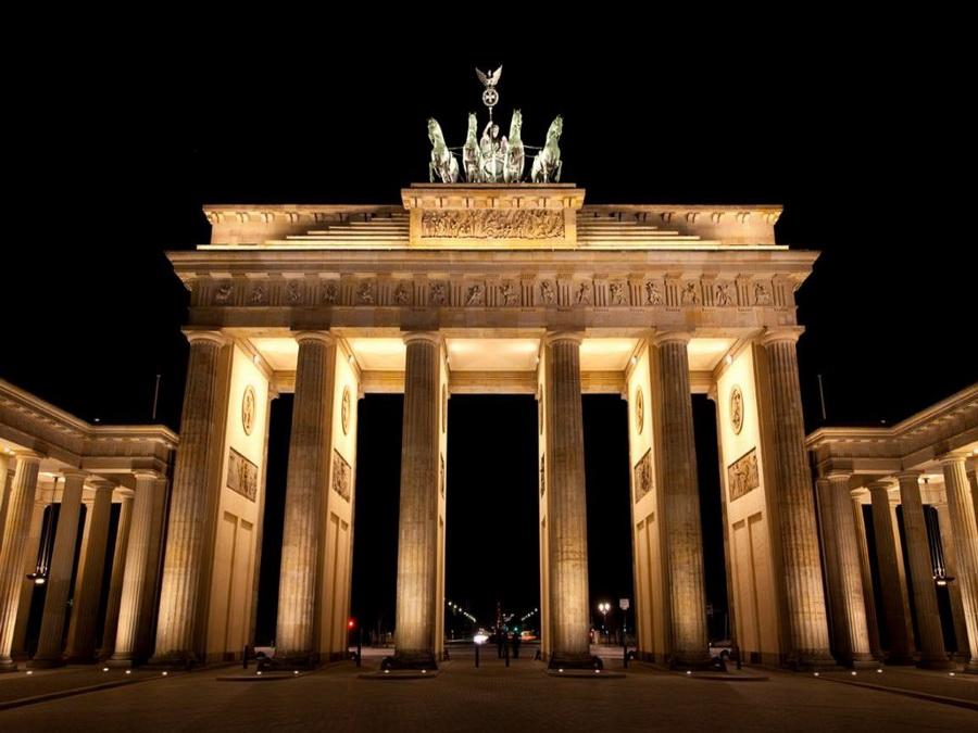 Нічна панорама - Бранденбурзькі ворота, Берлін