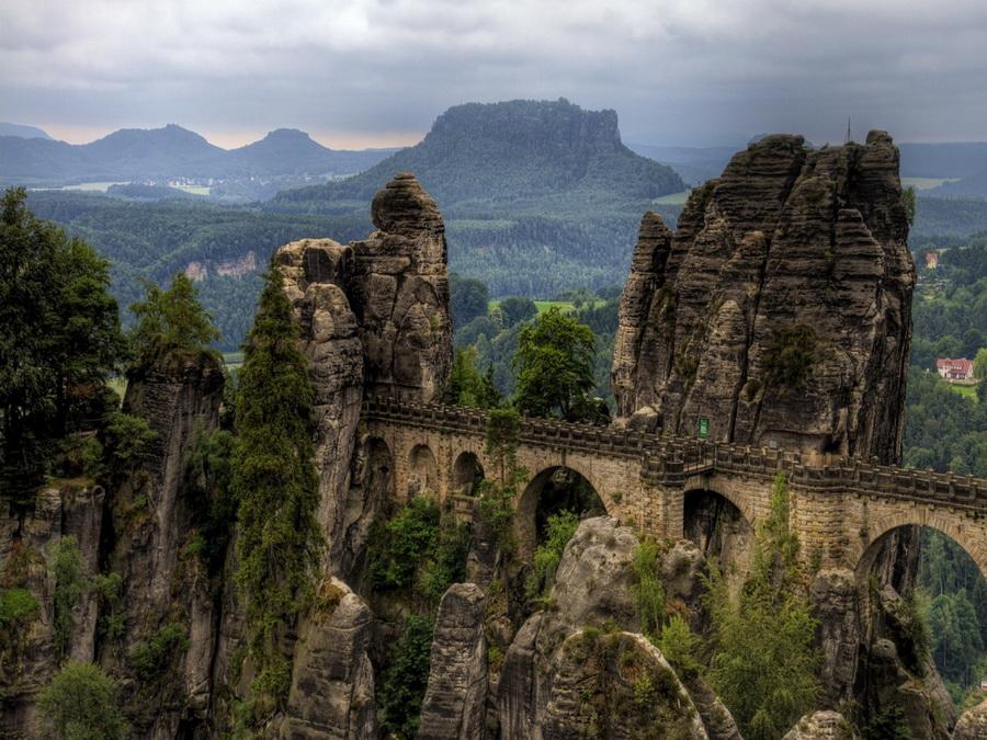 Панорама Національного парку Саксонська Швейцарія